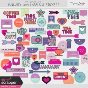 The Good Life: January 2021 Labels & Stickers Kit