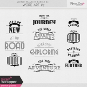 World Traveler #2 Word Art Kit #2