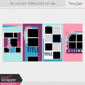 Travelers Notebook Layout Templates Kit #21