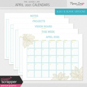 The Good Life: April 2021 Calendars Kit