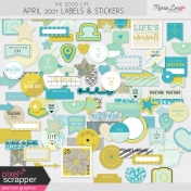 The Good Life: April 2021 Labels & Stickers Kit