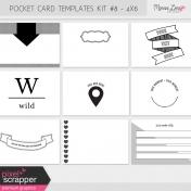 Pocket Card Templates Kit #8 - 4x6