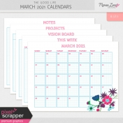 The Good Life: March 2021 Calendars Kit