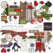 Winter Plaid Elements Kit