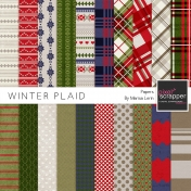 Winter Plaid Papers Kit