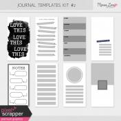 Journal Me Templates Kit #2