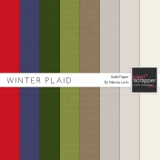 Winter Plaid Solid Papers Kit