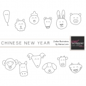 Chinese New Year Zodiac Templates Kit