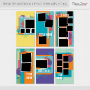 Travelers Notebook Layout Templates Kit #25