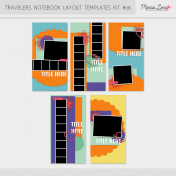 Travelers Notebook Layout Templates Kit #26