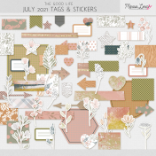 The Good Life: July 2021 Tags & Stickers Kit