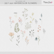 The Good Life: July 2021 Watercolor Flowers Kit