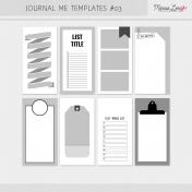 Journal Me Templates Kit #3