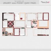 The Good Life: January 2020 Pocket Quick Pages Kit