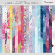 The Good Life: August 2021 Mixed Media Papers Kit