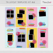 Travelers Notebook Layout Templates Kit #28