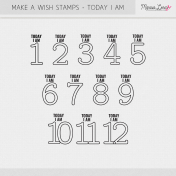 Make A Wish Stamps- Today I Am Kit