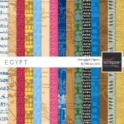 Egypt Glyph Papers Kit