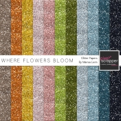 Where Flowers Bloom Glitter Sheets Kit