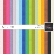 Mexico Solid Papers Kit
