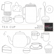 Tea Cup Illustrations Kit