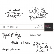 City Bicycle Words Kit