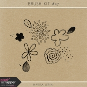 Brush Kit #47- Flower Watercolors