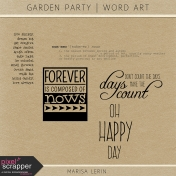 Garden Party Word Art