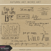 Autumn Art Word Art Kit