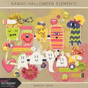 Kawaii Halloween Elements Kit