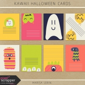 Kawaii Halloween Cards Kit