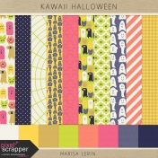 Kawaii Halloween Papers Kit