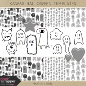 Kawaii Halloween Templates Kit