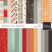 Birds in Snow Papers Kit