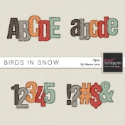 Birds in Snow Alphas Kit