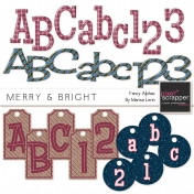 Merry & Bright Fancy Alphas Kit