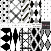 Argyle Paper Templates 21-30 Kit