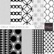 Circle Paper Templates 21-30 Kit