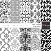 Damask Paper Templates 11-20 Kit