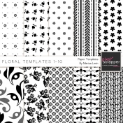 Floral Paper Templates 1-10 Kit