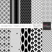 Geometric Paper Templates 11-20 Kit