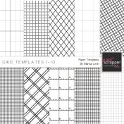 Grid Paper Templates 1-10 Kit