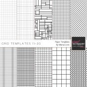 Grid Paper Templates 11-20 Kit