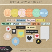 Here & Now Word Art Kit