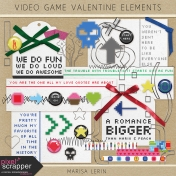 Video Game Valentine Elements Kit