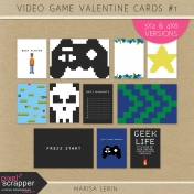 Video Game Valentine Cards Kit #1