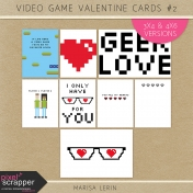 Video Game Valentine Cards Kit #2