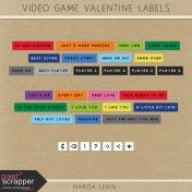 Video Game Valentine Label Kit