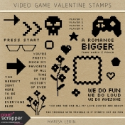 Video Game Valentine Stamps Kit