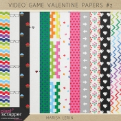 Video Game Valentine Papers Kit #2
